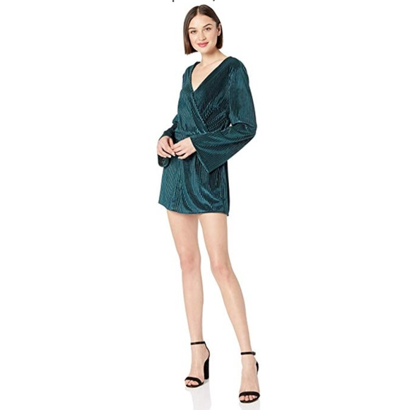 8e1cc8db1b9 Cupcakes and Cashmere Forest Green Velvet Romper